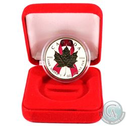 2016 Canada 1oz .9999 Fine Silver Gilded & Pink Ribbon Coloured Maple Leaf (Tax Exempt).