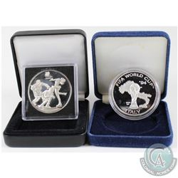 1994 FIFA World Cup USA 'Italy' & 1994 Canada Lillehammer Olympics Limited Edition 1oz .999 Fine Sil