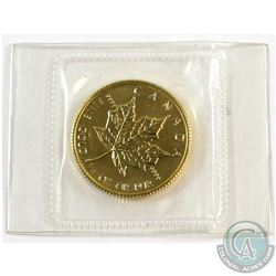 1982 Canada 1/4oz .9999 Fine Gold Maple Leaf Sealed in Mint Plastic (small toning spot on obverse) T