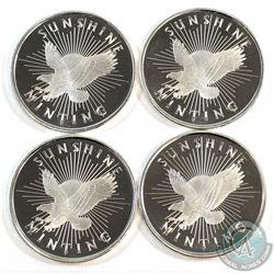 Sunshine Mint 1/2oz .999 Fine Silver Rounds. 4pcs (TAX Exempt)