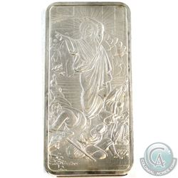 Silver Shield 10oz Jesus Clears the Temple .999 Fine Silver Bar (lightly toned) Tax Exempt