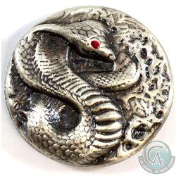 Beaver Bullion Cobra with Enamel Eye 3oz .999 Silver Round (Tax Exempt).