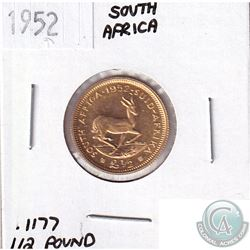 1952 South Africa 1/2 Pound - Contains 0.1177oz Pure Gold.