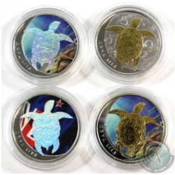 2013 Fiji $1 Taku 1/2oz .999 Fine Silver Coloured, Gold Plated and Holographic (scratched capsules).