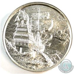 *First* in Privateer Collection - The Storm 2oz .999 Fine Silver Round (light toning spot) Tax Exemp