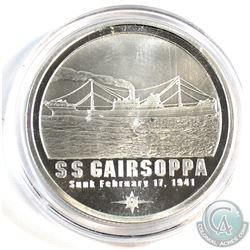 SCARCE - SS Gairsoppa Shipwreck Silver 1oz .999 Fine Silver Round in Capsule (light toning spot on o