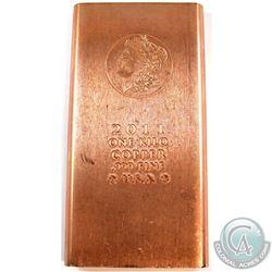 2011 USA 1 Kilo Morgan Head Design .999 Fine Copper Bar (Tax Exempt).