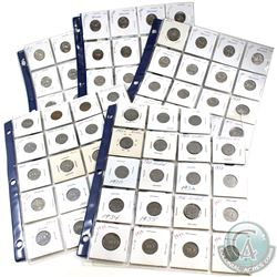 1922-2009 Canada 5-cent Estate Collection. You will receive 91x 5-cent coins dated from 1922 to 2009