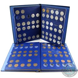 Estate Lot 1920-1967 Canada 1-cent & 5-cent Collections in Vintage blue Whitman Folders. You will re