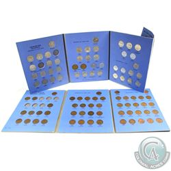 Estate Lot 1920-1972 Canada 1-cent & 5-cent Collections in Vintage blue Whitman Folders. You will re