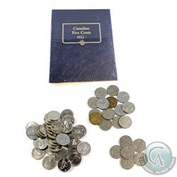 Estate Lot 1927-1997 Canada 5-cent Collection with NEW collector album. You will receive most dates