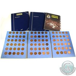 Estate Lot 1937-2002 Canada 1-cent & 5-cent Collections in 4 Collector Folders. You will receive 134