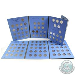 Estate Lot 1922-1986 Canada 5-cent Collection in Vintage blue Whitman Folders. You will receive 72x