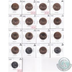 Estate Lot 1998-2000 Canada 25-cent & Loon Dollar Proof Like Collection (impaired). You will receive