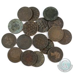 Estate Lot 1876-1901 Canada Large 1-cent Collection. You will receive 1876, 1881, 2x 1882, 1884, 188