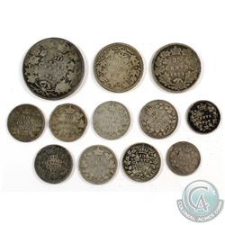 1872-1935 Canada Silver Type Coin Collection. You will receive 1888 & 1896 5-cent, 2x 1900, 1901, 2x