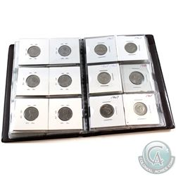 1931-2008 Canada 5-cent Collection in Stock Collector Book. You will receive 42x coins dated between