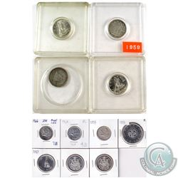 Estate Lot 1945-1968 Canada Coin Collection. You will receive 1945, 1959, 1964, & 1968 (Silver) 10-c