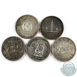 Estate Lot 1939-1964 Canada Silver Dollar Collection. You will receive 1939, 1958, 1960, 1961, and 1