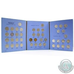 Estate Lot 1922-1960 Canada 5-cent Collection in Vintage blue Whitman folder. You will receive each