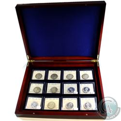 *Estate Lot 1957-1967 Canada 50-cent ICCS Coin Collection in Lighthouse Wooden Display Case. You wil