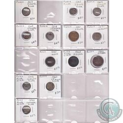 Estate Lot 1755-1980 World Coin Collection in Binder Pages. You will receive a range of coins from R