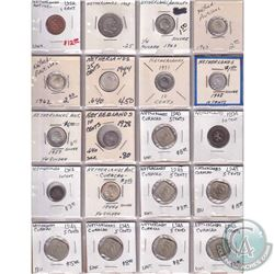 Estate Lot 1790-1980 Netherlands Coin Collection in Binder Pages. You will receive a range of coins