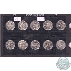Estate Lot 1968-2010 Canada 50-cent & Dollar Collection. You will receive 41x 50-cent Coins dated be