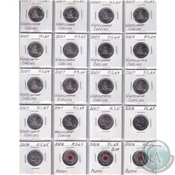 Estate Lot 1999-2008 Canada Commemorative 25-cent collection. You will receive 216x coins dating bet