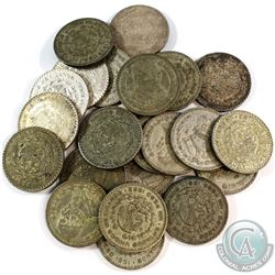 Estate Lot 1957-1966 Meico Silver Pesos Collection. You will receive 24 Coins in this collection wit