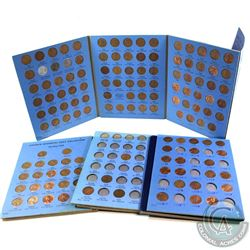Estate Lot 1910-2000 United States Lincoln 1-cent Collection in Vintage blue Whitman Folders. You wi
