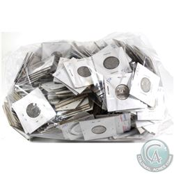 *Large Estate Lot 1930's-1980's Canada 5-cent Collection in Cardboard Holders. You will receive 280
