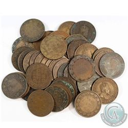 Estate Lot 1902-1910 Canada Edward VII Large 1-cent Collection. You will receive 40 Coins in the col