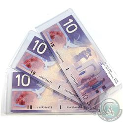 2000 $10 BC-63aA Bank of Canada Notes in Sequence - FDV9566476-78. Choice uncirculated condition. 3p