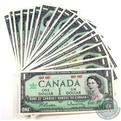 1867-1967 $1 Bank of Canada Confederation Centennial Notes without Serial Numbers Almost Uncirculate