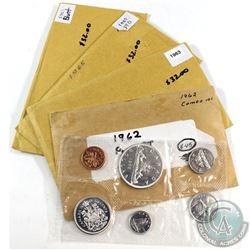 1962-1965 Canada Proof Like Sets. You will receive 1962, 1963, 1965 Pointed & 1965 Blunt all in orig
