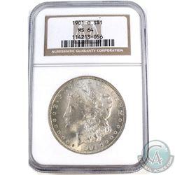 1901O USA Morgan $1 NGC Certified MS-64