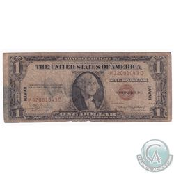 1935A USA $1 Banknote with Hawaii Overprint.