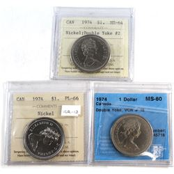 Nickel $1 1974 Certified Collection. You will receive the 1974 Double Yolk #2 ICCS MS-64, 1974 ICCS