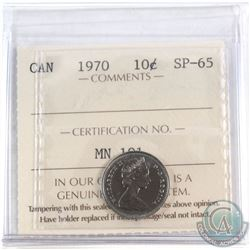 1970 Canada 10-cent ICCS Certified SP-65