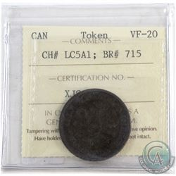 Token CH# LC5A1; BR# 715 ICCS Certified VF-20