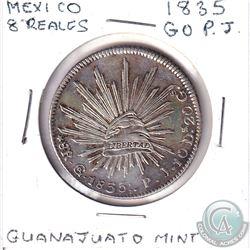 1835 GO PJ Mexico 8 Reales