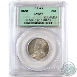 1929 Canada 25-cent PCGS Certified MS-62