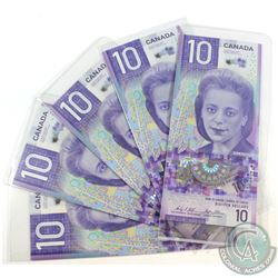 Estate Lot of 5x 2018 Bank of Canada Notes with Viola Desmond Portrait. 5pcs