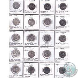 Estate Lot of 20x Canada 25-cent Error Coins Dated 4x 1999, 15x 2000 & 1x 2001P. 20pcs