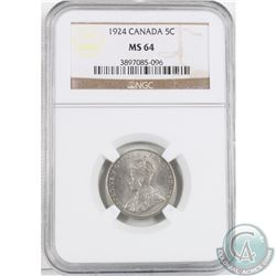 1924 5-cent NGC Certified MS-64