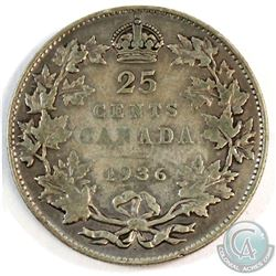 1936 Canada DOT 25-cent.