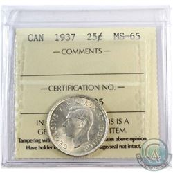 1937 Canada 25-cent ICCS Certified MS-65.