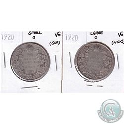 1920 Large 0 & 1920 Small 0 Canada 50-cent VG (impaired) 2pcs.