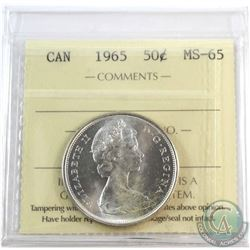 1965 Canada 50-cent ICCS Certified MS-65.